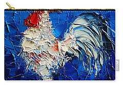 Little White Rooster Carry-all Pouch by Mona Edulesco
