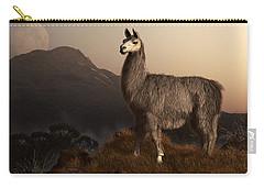 Llama Dawn Carry-all Pouch by Daniel Eskridge