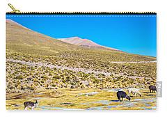 Llama Landscape Carry-all Pouch by Jess Kraft