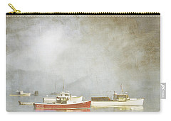 Lobster Boats At Anchor Bar Harbor Maine Carry-all Pouch by Carol Leigh