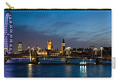 London Eye And Central London Skyline Carry-all Pouch by Panoramic Images