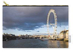 London Eye At South Bank, Thames River Carry-all Pouch by Panoramic Images