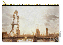 London Skyline At Dusk 01 Carry-all Pouch by Pixel  Chimp