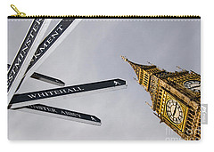 London Street Signs Carry-all Pouch by David Smith
