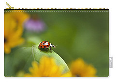 Lonely Ladybug Carry-all Pouch by Christina Rollo