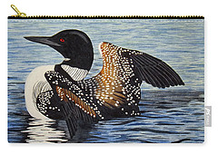 Loon In Flight Carry-all Pouch by Brenda Brown
