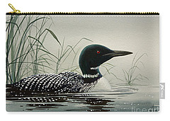 Loon Near The Shore Carry-all Pouch by James Williamson