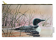 Loon Sunset Carry-all Pouch by James Williamson