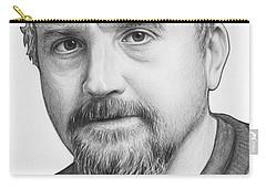Louis Ck Portrait Carry-all Pouch by Olga Shvartsur
