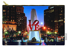 Love At Night Carry-all Pouch by Nick Zelinsky