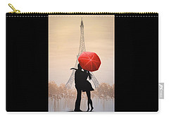 Love In Paris Carry-all Pouch by Amy Giacomelli