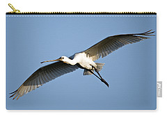 Low Angle View Of A Eurasian Spoonbill Carry-all Pouch by Panoramic Images