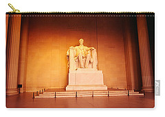 Low Angle View Of A Statue Of Abraham Carry-all Pouch by Panoramic Images