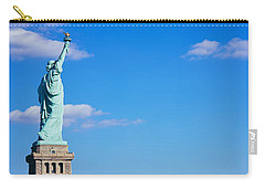 Low Angle View Of A Statue, Statue Carry-all Pouch by Panoramic Images