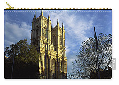 Low Angle View Of An Abbey, Westminster Carry-all Pouch by Panoramic Images