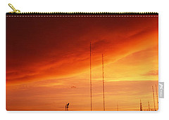 Low Angle View Of Antennas, Phoenix Carry-all Pouch by Panoramic Images