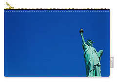 Low Angle View Of Statue Of Liberty Carry-all Pouch by Panoramic Images