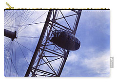Low Angle View Of The London Eye, Big Carry-all Pouch by Panoramic Images