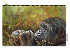 Lowland Gorilla 2 Carry-all Pouch by David Stribbling