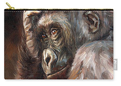Lowland Gorilla Carry-all Pouch by David Stribbling