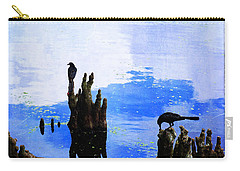 Lunch Break - Crow Art By Sharon Cummings Carry-all Pouch by Sharon Cummings