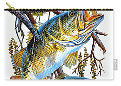 Lurking Bass Carry-all Pouch by Carey Chen