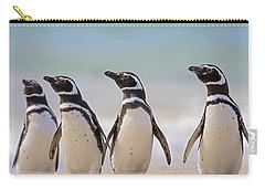 Magellanic Penguins Carcass Island Carry-all Pouch by Heike Odermatt