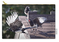 Magpie Dispute Carry-all Pouch by Randall Nyhof