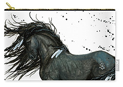 Majestic Friesian Horse 112 Carry-all Pouch by AmyLyn Bihrle