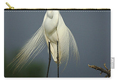 Majestic Great Egret Carry-all Pouch by Bob Christopher