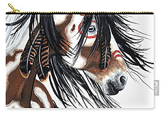 Majestic Pinto Horse Carry-all Pouch by AmyLyn Bihrle