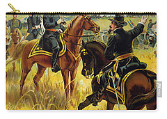 Major General George Meade At The Battle Of Gettysburg Carry-all Pouch by Henry Alexander Ogden