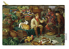 Market Scene Carry-all Pouch by Henry Charles Bryant