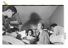 Mcgovern And Mrs. Coretta King Carry-all Pouch by Underwood Archives