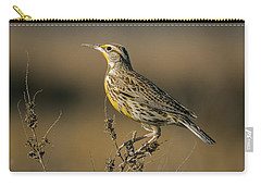 Meadowlark On Weed Carry-all Pouch by Robert Frederick