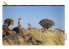 Meerkat In Quiver Tree Grassland Carry-all Pouch by Vincent Grafhorst