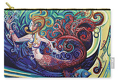 Mermaid Gargoyle Carry-all Pouch by Genevieve Esson