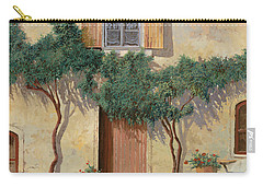 Mezza Bicicletta Sul Muro Carry-all Pouch by Guido Borelli
