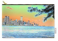 Miami Skyline Abstract II Carry-all Pouch by Christiane Schulze Art And Photography