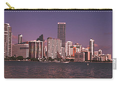 Miami Skyline Abstract IIi Carry-all Pouch by Christiane Schulze Art And Photography