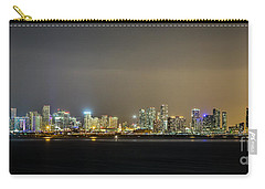 Miami Skyline View II Carry-all Pouch by Rene Triay Photography