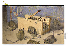 Mice And Huntley Palmers Superior Biscuits Carry-all Pouch by Agnes Louise Holding