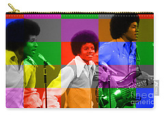 Michael Jackson And The Jackson 5 Carry-all Pouch by Marvin Blaine