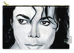 Michael Jackson Portrait Carry-all Pouch by Alban Dizdari