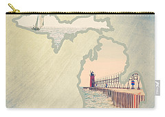 Michigan Mitten 2 Carry-all Pouch by Emily Kay