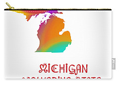 Michigan State Map Collection 2 Carry-all Pouch by Andee Design