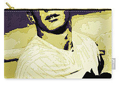 Mickey Mantle Poster Art Carry-all Pouch by Florian Rodarte
