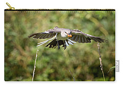 Mockingbird In Flight Carry-all Pouch by Bill Wakeley
