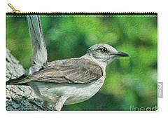 Mockingbird Pose Carry-all Pouch by Deborah Benoit