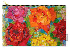 Mon Amour La Rose Carry-all Pouch by Mona Edulesco